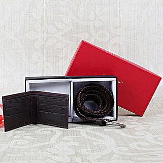 Paradigm Dark Brown Wallet N Belt Combo: Belts