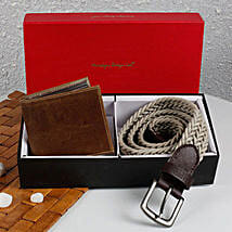 Paradigm Woven Belt N Wallet Combo: Send Belts