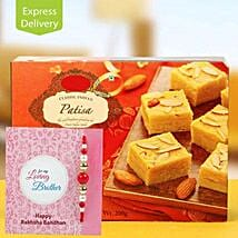 Patisa Hamper: Rakhi With Sweets Meerut