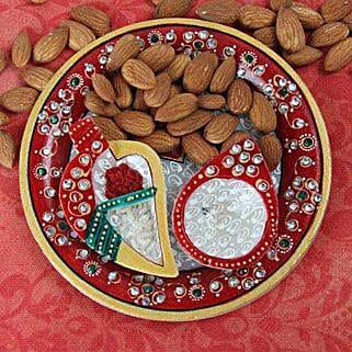 Perfect Marble Pooja Thali: Pooja Thali for Bhaidooj