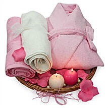 Perfectly Pink Hamper: Cosmetics & Spa Hampers for Valentine