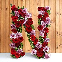 Personal Alphabet Budding Love: Valentine Personalised Gifts for Boyfriend