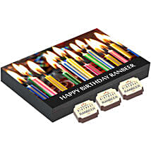 Personalised 12 Chocolate Box For Birthday: Personalised Chocolates for Him
