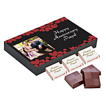Personalised Anniversary Decorated Chocolate Box: Personalised Chocolates to Lucknow