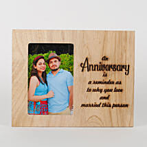 Personalised Anniversary Engraved Frame: Personalised Engraved