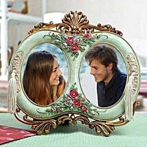 Personalised Antique Duo Photo Frame:
