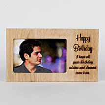 Personalised Birthday Engraved Frame:
