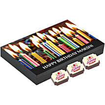Personalised Birthday Gift Box- 12 Chocolates: Personalised Chocolates to Hyderabad