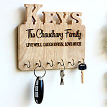 Personalised Engraved Family Name Key Holder: Personalised Gifts for Him
