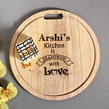 Personalised Engraved Quality Chopping Board: Send Personalised Gifts for Friend