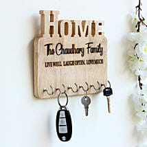 Personalised Engraved Wooden Key Holder: Personalised Engraved