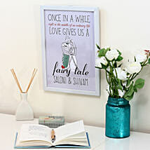 Personalised Fairy Tale White Frame: Miss You Gifts