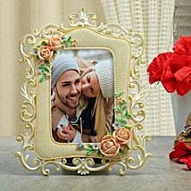 Personalised Floral Photo Frame: Send Wedding Personalised Gifts