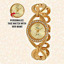 Personalised Graceful Golden Watch: Watches