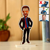 Personalised Man Caricature: Send Bhai Dooj Gifts to Jalandhar