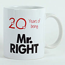 Personalised Mr Right Mug: Send Valentine Gifts to Jaipur