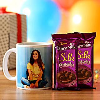 Personalised Mug & Silk Chocolate Combo: