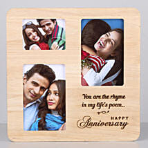 Personalised One Personalised Wooden Frame For Anniversary: Personalised Photo Frames for Her