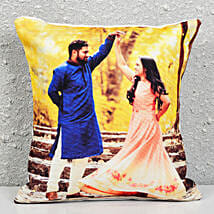 Personalised Photograph Cushion: Rakhi With Mugs