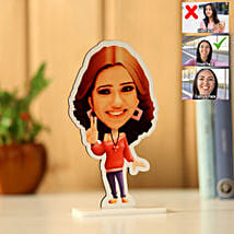 Personalised Pretty Girl Caricature: Gift For Women