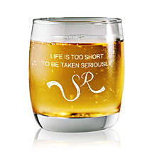 Personalised Set Of 2 Whiskey Glasses 2359: Personalised Gifts for Men