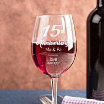 Personalised Set Of 2 Wine Glasses 2902: Anniversary Gifts for Parents