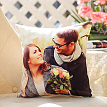 Personalised Romantic Cushion: Gold Rakhi