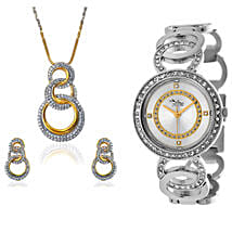Personalised Watch With Pendant & Earrings: Buy Watches