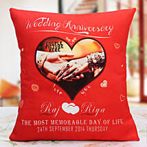 Personalized Anniversary Cushion: Send Personalised Gifts to Kashipur