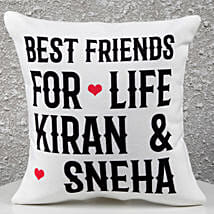 Personalized Best Friends Cushion: Personalised Friendship Day Gifts