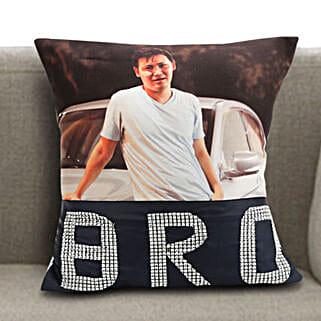 Personalized Bro Cushion: Personalised Gifts for Rakhi