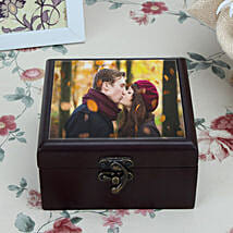 Personalized Brown Wooden Box: Send Gifts to Jhansi