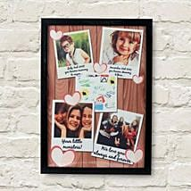 Personalized Cherishing Love Frame: Send Personalised Gifts to Wardha