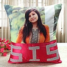 Personalized Comfy Cushion: Rakhi Return Gifts for Sister
