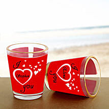 Personalized Couple Shot Glass: Send Gifts to Neemuch