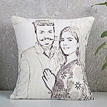 Personalized Couple Sketch Cushion: Personalised Caricatures