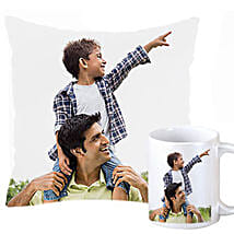 Personalized Cushion and Mug For Dad: Personalised Mugs Mumbai