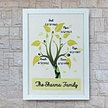 Personalized Family Tree Frame: New Year Personalised Gifts