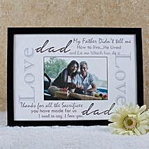 Personalized Frame For Dad: Fathers Day Personalised Gifts