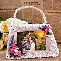 Personalized Handbag Shaped Photo Frame: Personalised Photo Frames for Mothers Day