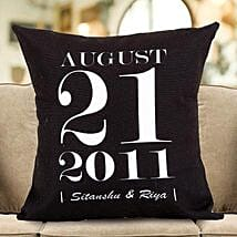 Personalized Important Date Cushion: Wedding