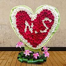 Personalized Isle of Red: Heart Shaped Flower Arrangements