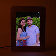 Personalized LED Wooden Frame: Karwa Chauth Photo Frames