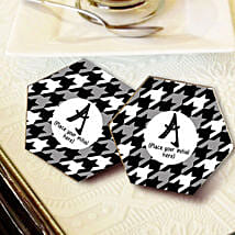 Personalized Letter Coasters: Send Gifts to Neemuch