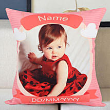 Personalized Little Angel Cushion: Birthday Gift for Sister