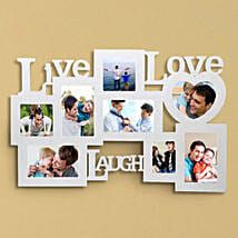 Personalized Live Love Laugh Frame: Fathers Day Photo Frame Gifts