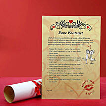 Personalized Love Contract for Her: Send Personalised Gifts to Kashipur