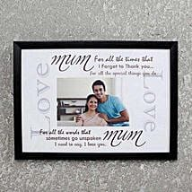 Personalized Photo Frame for Mom: Mothers Day Personalised Gifts