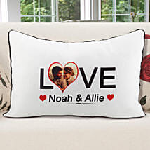 Personalized Pillow Cover White: Send Valentine Gifts to Jaipur