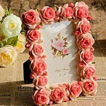Personalized Pink Roses Photo Frame: Photo Frames for Fathers Day